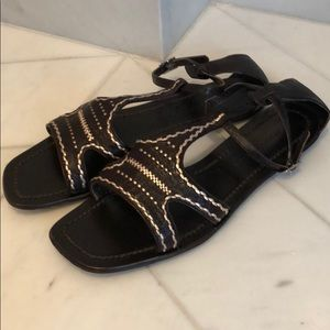 Sigerson Morrison brown rose gold sandals 8.5
